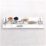 Zodax Tomar Marble and Agate Cheese Tray