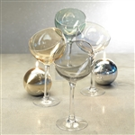 Zodax Ball Glass on Stem Candleholder / Condiment Bowl