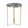 Zodax La Sardaigne Blue Agate End Table