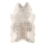 Fabulous Furs Gold Metallic Faux Cowhide Rug