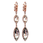 Suzanne Kalan White Diamond Marquis Earrings