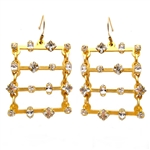 Barbara Cieslicki Jewelry Hematite Swinging Ladder Earring by Barbara Cieslicki