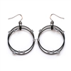 Barbara Cieslicki Jewelry Hematite Double Dangle Earrings by Barbara Cieslicki