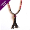 EXCLUSIVE - The Pink Happiness Necklace - Pyrite & Tassle By Alyce Ross Designs