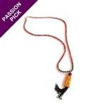 EXCLUSIVE - The Pink Happiness Necklace - Wood Dragon & Pyrite e By Alyce Ross Designs