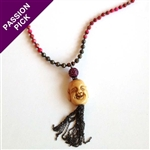 EXCLUSIVE - The Pink Happiness Necklace - Buddha & Pyrite By Alyce Ross Designs