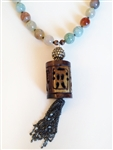 Crackle Agate Drum Necklace by Alyce Ross Designs