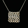 Danielle Welmond Gold Lace Square Necklace