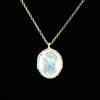 Danielle Welmond 14kt Gold Lace with Rainbow Moonstone Necklace