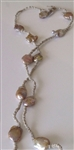 Mela Flat Bronze Baroque Pearl Necklace