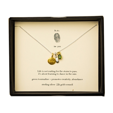 b.u. Jewelry be you Life is Not About Waiting Necklace