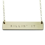 The Urban Smith The Name Plate Necklace - Killin' It