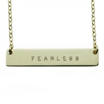 The Urban Smith The Name Plate Necklace - FEARLESS