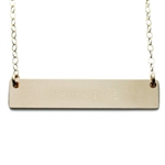 The Urban Smith The Name Plate Necklace - NAMASTE