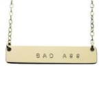 The Urban Smith The Name Plate Necklace - BAD ASS