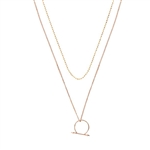 Luv Aj The Barbell Ring Charm Necklace