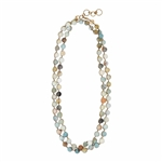 Rebecca Scott Classic Woven Necklace in Chunky Unpolished Ammonite
