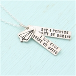 Chocolate and Steel David Bowie Quote Necklace