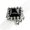 Sergio Gutierrez SG Liquid Metal Ring with Stone PR RING1