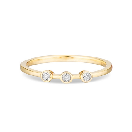Adina Reyter 3 Diamond Ring - Yellow Gold