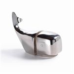 Zodax Polished Aluminum Whale Bookend