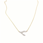 Alef Bet Jewelry by Paula Wishbone Diamond Necklace