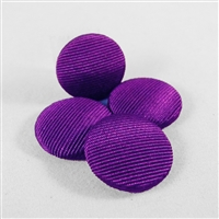 Vintage, grosgrain covered cabochons, 19mm diam. PURPLE. Qty. 4