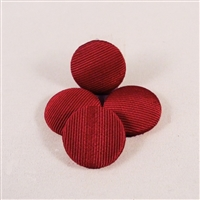 Vintage, grosgrain covered cabochons, 19mm diam. RED. Qty. 4