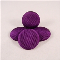 Vintage, grosgrain covered cabochons, 26mm diam. PURPLE. Qty. 4