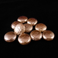 Pearl coin beads - Cocoa - 10mm diam. Qty. 10