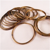 Soldered brass rings - raw brass - 38mm diam. Qty. 20