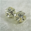 Vintage Rhinestone Bead - Crystal on Silver 14mm
