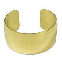 "Brass Bracelet Cuff - 1 1/2"" wide"