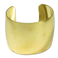 "Brass Bracelet Cuff - 2"" wide"