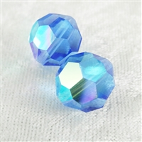 Vintage Crystal Beads - Sapphire - 14mm
