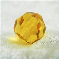 Vintage Crystal Beads - Topaz - 16mm