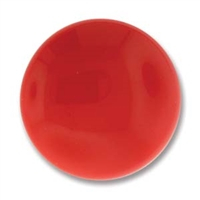 Czech Glass Cabochon - 24 mm round - 2 per package - Red Coral