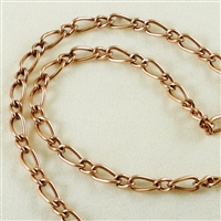 "Figaro Chain - Copper-Oxide, 12"" length"