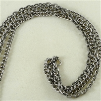 "Multi-Strand Chain, Silver-Oxide, 9"" length"
