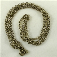 "Multi-Strand Chain, Brass-Oxide, 9"" length"