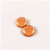 Czech Glass Cabochon - 18 mm round - 2 per package - BACKLIT PEACH