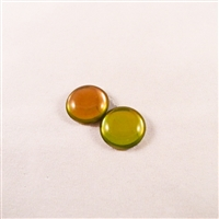 Czech Glass Cabochon - 18 mm round - 2 per package - BACKLIT PINK/CITRINE