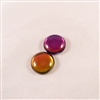 Czech Glass Cabochon - 18 mm round - 2 per package - BACKLIT PURPLE HAZE
