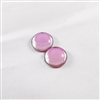 Czech Glass Cabochon - 18 mm round - 2 per package - BACKLIT PINK MIST