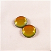 Czech Glass Cabochon - 18 mm round - 2 per package - BACKLIT TEQUILA