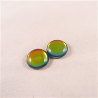 Czech Glass Cabochon - 18 mm round - 2 per package - BACKLIT UTOPIA