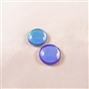 Czech Glass Cabochon - 18 mm round - 2 per package - BACKLIT VIOLET ICE