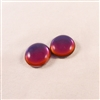 Czech Glass Cabochon - 18 mm round - 2 per package - BACKLIT VAPOR
