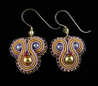 Golden Lilac - Earrings - #1430