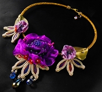 Violet's Garden - Collar Necklace - #1645
